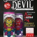 Screaming devil 100% natural falvours 8% vol dare to take a sip taurine caffeine guarana gluten free