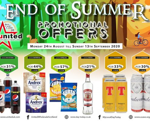 Enf of summer promotional offers by United Cash and Carry