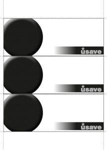 Usave black blank a4 blank shelftalkers