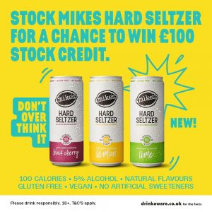 Stock mikes hard seltzer dont over think it