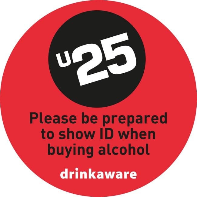 Under 25 show ID when buying alcohol at United cash & carry stores