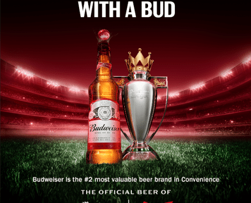 get ready for the game witha bud with budweiser premier league