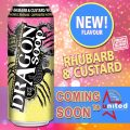 dragon rhubard and custard soop caffeiated alcoholic beverage coming soon
