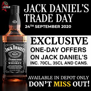 jack daniels trade day old no 7 tennessee sour mash whiskey available in deport only