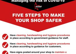 Eesure your shop is staying covid-19 free, practice social distancing, use face masks