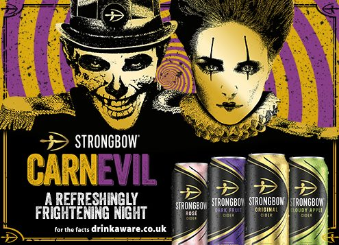strongbow carnevil a refreshing frightening night drinkware.co.uk