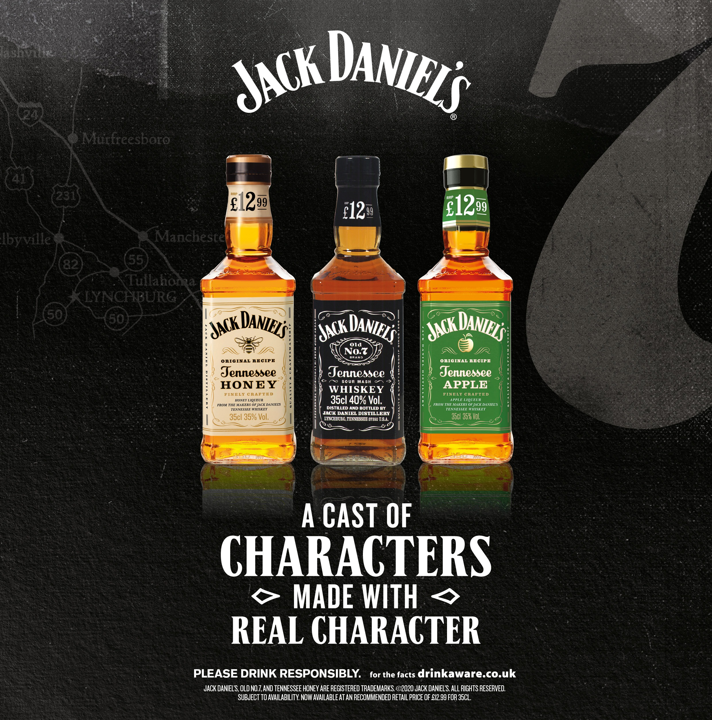 jack daniels a cast of characters made with real character
