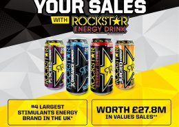 4th largest stimulants energy brand in the UK, worth £27.8M in values sales